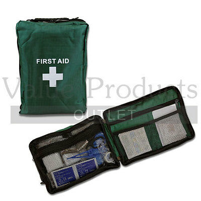 115 Piece Deluxe First Aid Medical Emergency Kit in Green First Aid Bag