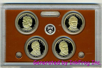 2011 S 4 Coin Presidential Dollar Deep Cameo Gem Proof Set