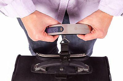 Stainless Steel Digital Luggage Suitcase Scale Travel Bag Handheld Weight Scales