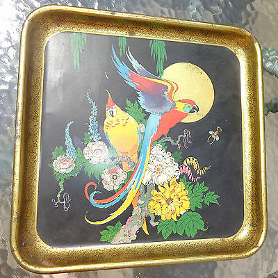 scarce old lithographed tin tray signed Henry Clive