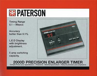Paterson 2000D  Photographic Darkroom Enlarger Timer  : PTP 745