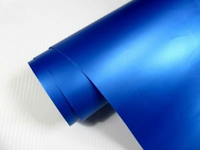 7,17€/m² Auto Folie BLAU METALLIC MATT 100 x 152 cm  3D Klebefolie Car Wrapping