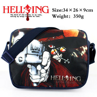 JP Anime HELLSING polyester shoulder bag colorful printed w/ Alucard