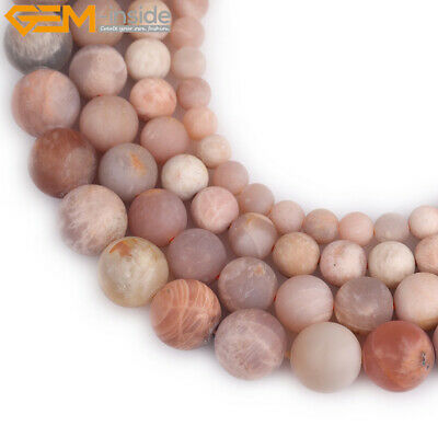 "Natural Gemstone Matte Sunstone Beads Strand 15"" Wholesale Jewelry Loose Beads"