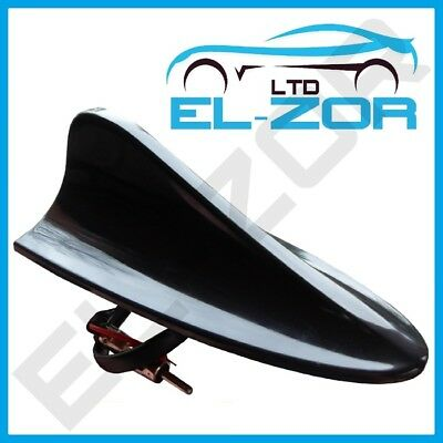Large Working Shark Fin Style Aerial Antenna Mast 12v Black Car Upgrade Stereo