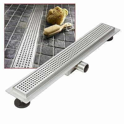 """700mm Stainless Steel Long """"Rectangular"""" Wetroom / Shower Drainage System"""
