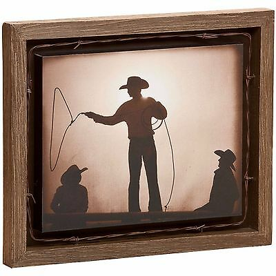 Braggin' Rights Shadow Box Western Wall Art Cowboy Rope Lasso Barbed Wire Accent