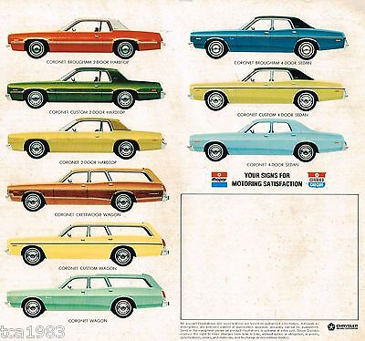 1975 DODGE CORONET Dealer Sales Brochure / Catalog: CUSTOM,Station Wagon,CUSTOM,