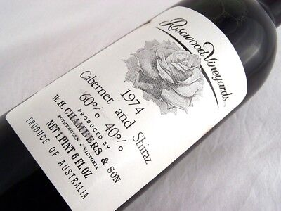 1974 CHAMBERS Rosewood Winery Cabernet Shiraz B Isle of Wine