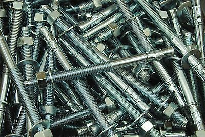 (15) Concrete Wedge Anchor Bolts 1/2 x 7 Includes Nuts & Washers