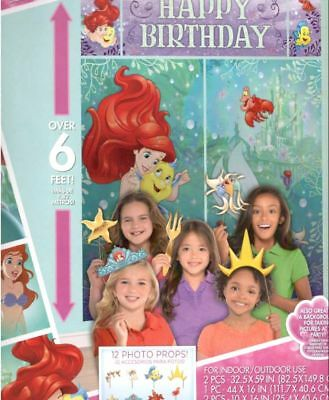 Little Mermaid Wall Decoration Kit, Scene Setter Happy Birthday Party Supplies