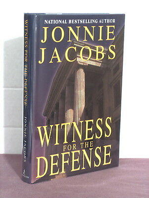 1st, signed by the author, Witness for the Defense by Jonnie Jacobs (2001)