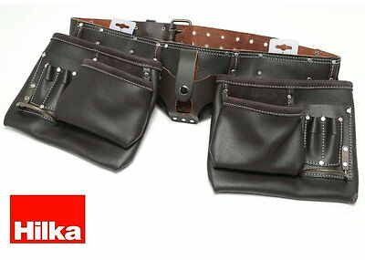 Hilka Heavy Duty Oil Tanned Double Leather Tool Belt Professional joiners pouch