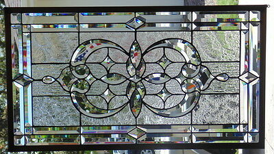 Stained Glass Window Hanging 32 1/4 X 18 1/4""