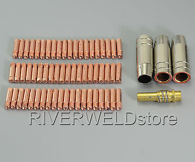 MB 15 AK MAG Contact Tip 140.0008 Gas Nozzle 145.0075 Tip Holder 002.0078  64PK