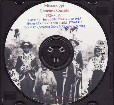 Choctaw Mississippi Indian Census Rolls 1926-1939