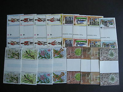 ST VINCENT 16 different MNH gutter pairs, check them out!