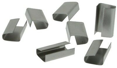 2000 x 12mm Metal Hand Pallet Strapping Banding Seal Clips Warehouse