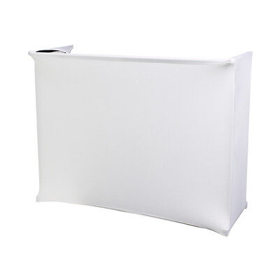 Equinox 4ft 1.2m White Lycra Scrim Cover for Deck Stand STAN12D Works with Rhino
