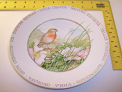 nEw Hallmark plate ~ Wildflower Meadow by Marjolein Bastin ~ Bird with Flowers