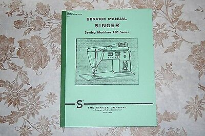 Professional Full Size Service Manual on CD - Singer 750 756 758 Sewing Machines
