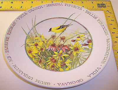 nEw Hallmark plate ~ Wildflower Meadow w/ Bird & Flowers ~ by Marjolein Bastin