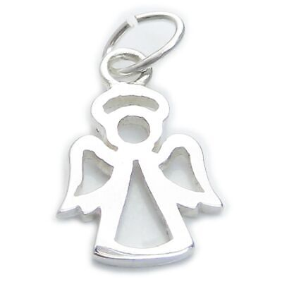 Angel small sterling silver charm .925 x 1 Angels and Protection charms CI300257