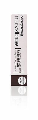 Salon System Marvelbrow Brow & Lash Tint Dark Brown No Peroxide Gel Formula 15ml