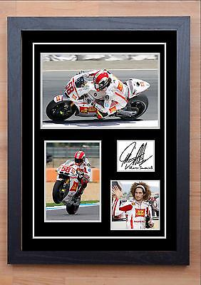 Marco Simoncelli Signed / Autographed And Framed Print