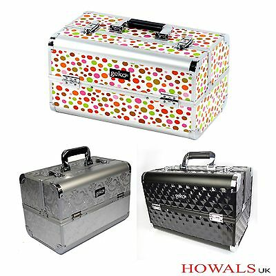 Geko Professional Designer Vanity Case Beauty Storage Make up Box Aluminium