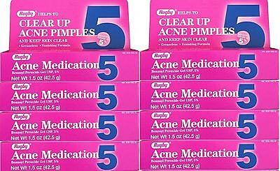 Benzoyl Peroxide 5 %  Generic for Oxy Balance Acne Medication Gel 1.5 oz 8 PACK