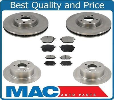 Front and Rear Disc Brake Rotors with Brake Pads for Nissan Maxima 05-08