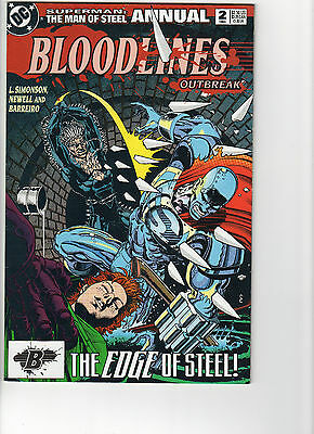 Superman The Man of Steel Annual Bloodlines Outbreak #2 DC NM