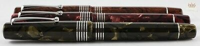 Omas Limited Edition 90Th Anniversary Celluloid Silver Trim Fountain Pen Set !!