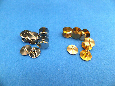 Chicago Screw Large 12 Mm Studs - Rivets Belts  Fasteners  Solid  Brass-Nickel