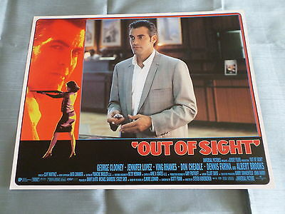 OUT OF SIGHT - GEORGE CLOONEY  - LOBBY CARD USA -11x14 - #1
