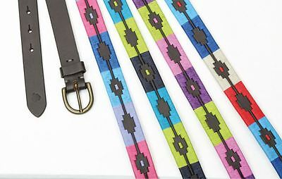 Shires Moreno Skinny Argentinian Polo Belt - Choose Colour and Size!