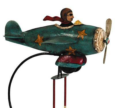 Flying Ace Metal Sky Hook Airplane Plane Balance Toy With Desktop Stand