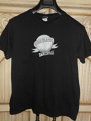 Smallville Daily Planet youth t shirt size large*see measurements (100% COTTON)