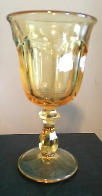 """Imperial Crystal OLD WILLIAMSBURG YELLOW 6 1/2"""" Water Goblets Set of 2"""