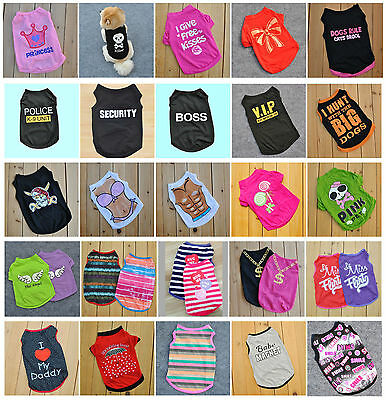 Pet Dog Puppy Clothes Summer Sleeveless Vest T-Shirt Apparel Clothing for Cat