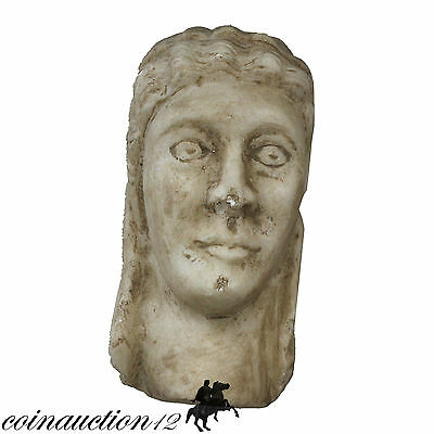1800 Ad Huge Hand Made Marble Head Of Emperor Divus Claudius , Near 3 Kilos