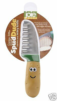 Joie MSC Spud Dude Vegetable Potato Wavy  Knife Stainless Steel Kitchen Home