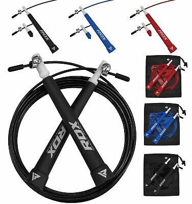 RDX Speed Cable Jumping Skipping Rope Boxing MMA Fitness Gym Running C9