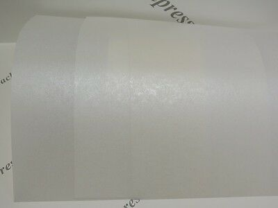 Vellum Parchment Translucent Pearlescent Shimmer Paper 115gsm 10 x A4 Pale Ivory