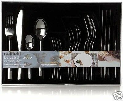 Stainless Steel Cutlery Set 24Pc High Quality Kitchen Fork Knife Table Tea Spoon