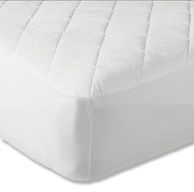 Luxury Quilted Fitted Mattress Bed Protector Cover - Hypo Allergenic