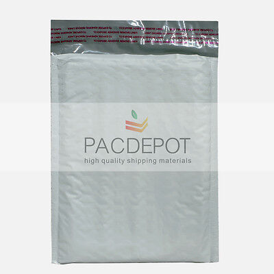 500 #000 4 x 8 Poly Bubble Padded Envelope Mailers Shipping Bags Extra Wide! 4x8
