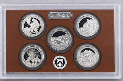 2012 S Clad America the Beautiful 5 Coin Quarter Gem Proof Set without Box/COA