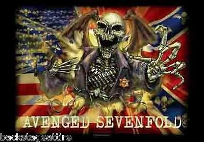 Avenged Sevenfold A7X Deathbat Sheriff Textile Fabric Cloth Poster Flag-New!!!